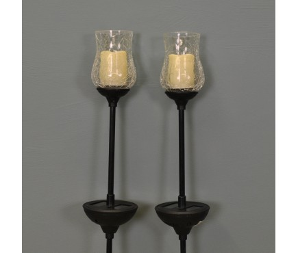 Flickering Candle Stake Lights Pack of 2 (Solar) by Smart Solar