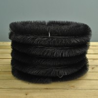 Set of 5 Black Gutter Brush Leaf Guard (4m)