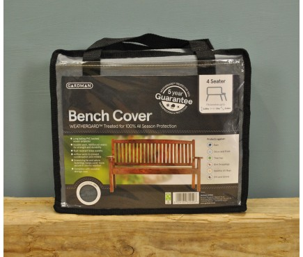 4 Seater 1.8m Bench Cover (Premium) in Grey by Gardman