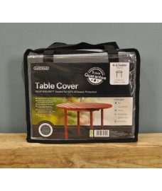 4-6 Seater Round Table Cover (Premium) In Grey by Gardman