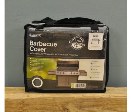 Large Barbecue Cover (Premium) in Grey by Gardman