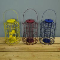 Squirrel Proof Bird Feeders (Set of 3) Colour Coded for Nut, Seed & Fat Ball