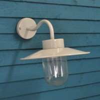 St Ives Swan Neck Wall Light in Flint (Mains) by Garden Trading