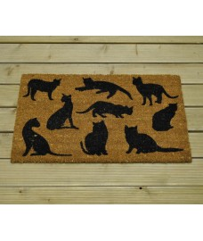 Cat Montage Design Coir Doormat by Gardman