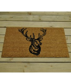 Stag Head Design Coir Doormat by Gardman