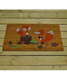 Fox Design Coir Doormat by Gardman