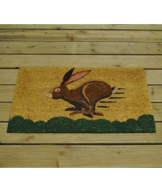 Running Hare Design Coir Doormat by Gardman