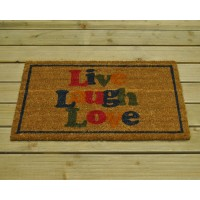 Live Laugh Love Coir Doormat by Gardman