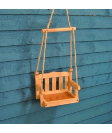 Swing Seat Wooden Bird Feeder Bird Table by Wildlife World
