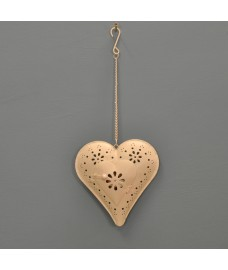 Florence Hanging Heart Shaped Tealight Holder by Gardman