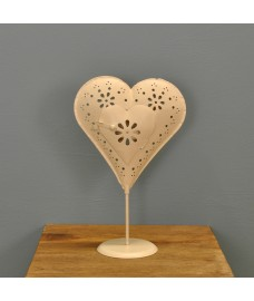 Florence Standing Heart Shaped Tealight Holder by Gardman