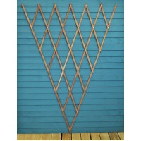 Expanding Riveted Wooden Fan Trellis (180cm x 90cm) by Smart Garden