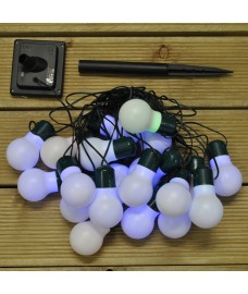 20 LED Coloured Bulbs String Lights (Solar) by Smart Garden