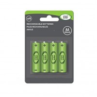 4 x AA Rechargeable Batteries for Solar Lights by Smart Solar
