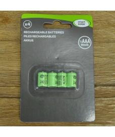 4 x 1/3 AAA Rechargeable Batteries for Solar Lights by Smart Solar