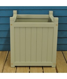 Large Hardwood Garden Planter in French Grey by Rustic Garden