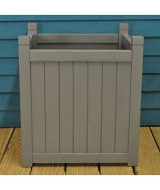 Large Hardwood Garden Planter in Grey by Rustic Garden