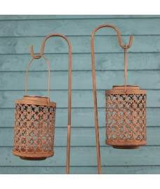 Riad Solar Powered Lanterns with Shepherds Crook by Smart Solar