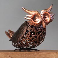 Silhouette Owl Light Garden Sculpture (Solar) by Smart Garden