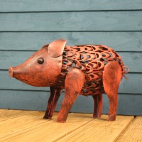 Silhouette Pig Light Garden Sculpture (Solar) by Smart Garden
