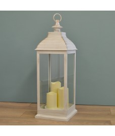 Giant Cream Battery Operated Candle Lantern by Smart Solar