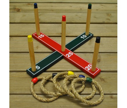 Deluxe Quoits Garden Ring Toss Game