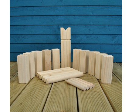 Deluxe Wooden Kubb Viking Chess Garden Game