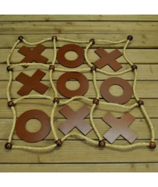 Deluxe Wooden Noughts and Crosses (Tic Tac Toe)