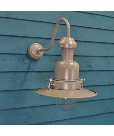 Wall Mounted Fishing Light in Charcoal (Mains) by Garden Trading