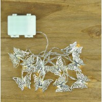 10 LED Butterfly Silver Memory String Lights (Battery) by Gardman