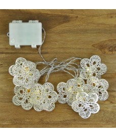 10 LED Flower Silvery Memory String Lights (Battery) by Gardman
