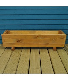 Rosemoor Wooden Trough Garden Planter by Tom Chambers