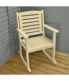 Rocking Carver Garden Chair in Cream by Fallen Fruits