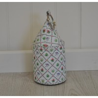 Botanicae Print Fabric Doorstop with Metal Ring by Fallen Fruits