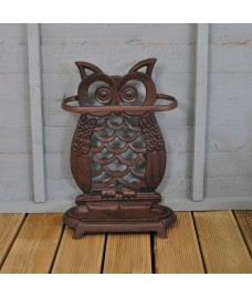 Cast Iron Owl Umbrella Stand by Fallen Fruits