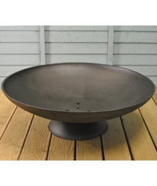 Large Black Cast Iron Fire Bowl by Fallen Fruits