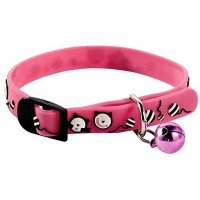Patterned Pink PVC Cat Collar by Gardman