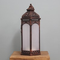 Moroccan Battery Operated Stars Effect Candle Lantern by Smart Solar