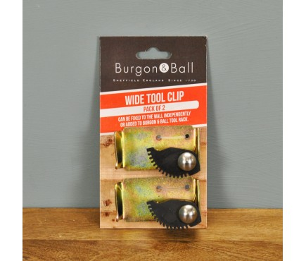 Pack of 2 Wide Jammer Clips for Tool Rack by Burgon & Ball