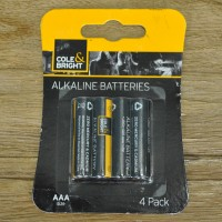 4 x AAA Alkaline Batteries by Gardman