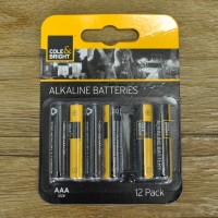 12 x AAA Alkaline Batteries by Gardman