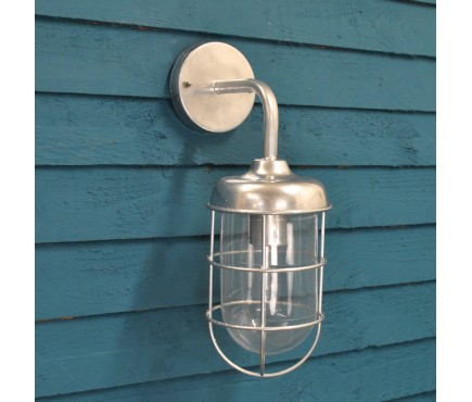 Galvanised St Ives Harbour Light (Mains) by Garden Trading