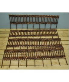 Set of 4 Willow Hurdles Lawn Edging (120cm x 25cm)