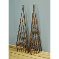 Pair of Expanding Willow Garden Obelisks (1.2m)