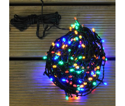 200 Multi-Coloured LED String Lights (Mains) By Kingfisher