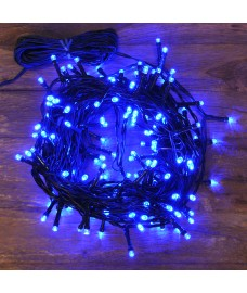 160 LED Blue Multi-Action String Lights (Mains) by Kingisher