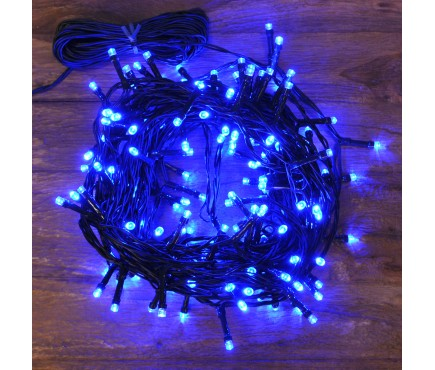 160 LED Blue Multi-Action String Lights (Mains) by Kingfisher