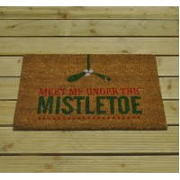 Christmas Meet Me Under the Mistletoe Coir Doormat By Gardman