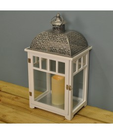 Large Bamburgh Battery Operated Candle Lantern by Gardman