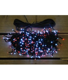 480 LED Red & White Cluster Supabright String Lights (Mains) by Premier